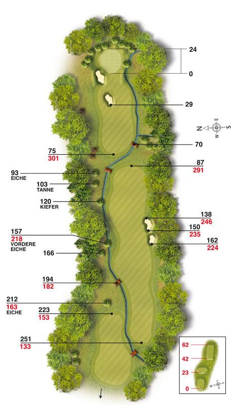 Golf-Land-Club Köln, Platzbeschreibung Loch 13