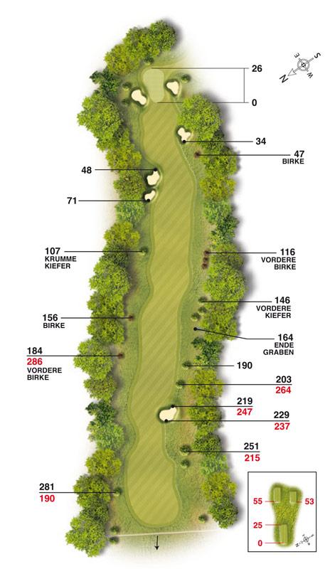 Golf-Land-Club Köln, Platzbeschreibung Loch 18