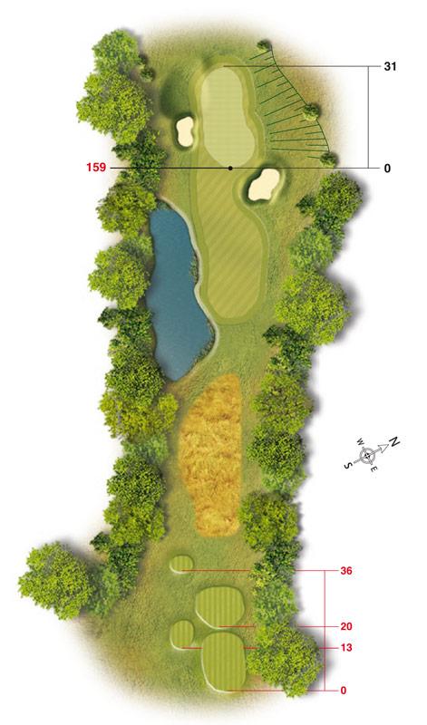 Golf-Land-Club Köln, Platzbeschreibung Loch 3