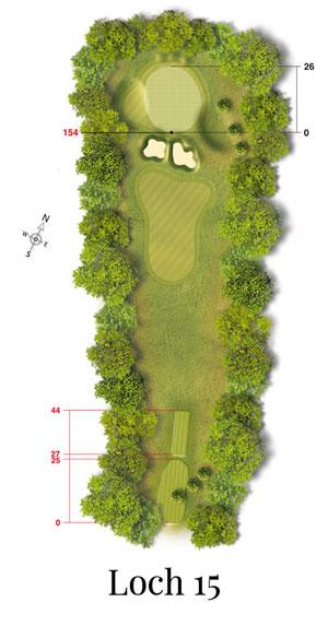 Golf-Land-Club Köln, Platzbeschreibung Loch 15