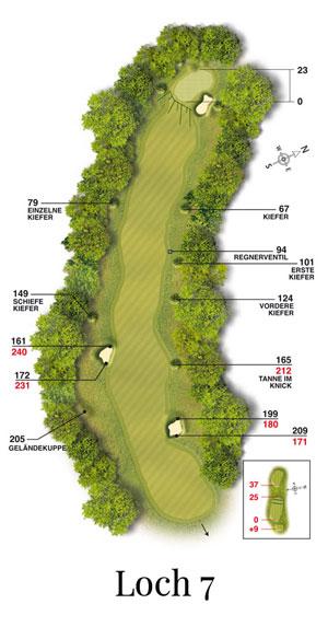 Golf-Land-Club Köln, Platzbeschreibung Loch 7