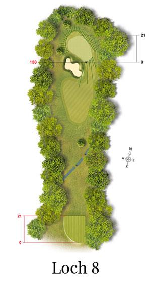Golf-Land-Club Köln, Platzbeschreibung Loch 8