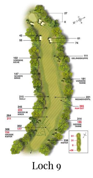 Golf-Land-Club Köln, Platzbeschreibung Loch 9